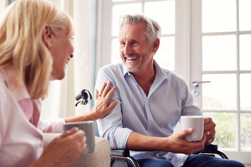 Couple Discuss Assistive Devices Program